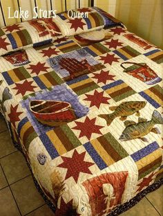 lake life quilt pattern | quilt featuring Lake Life. Pattern is featured in the new Lake Life ...