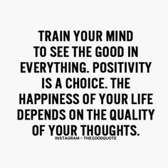 Such an important thing to remember when you are in a constant battle with your mind. Always stay positive no matter what! ✨