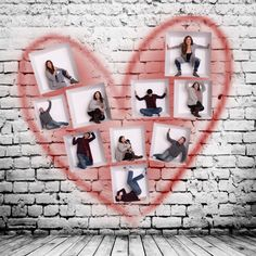 VALENTINE'S DAY GRAFFITI HEART ON THE WALLS PHOTOSHOP TEMPLATE Photoshop Photography, Image Photography, Box Design Templates, Valentines Day Card Templates, Wall Boxes, Color Profile, Digital Backdrops, Custom Cards, Custom Photo