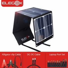 Solar Charger 60W Foldable Solar Panel Portable Battery Charger Kit with Dual 5V USB Ports for Cell Phone Power Bank DC12V for Car motorcycles Boat RVs Charge Battery DC18V Output for Laptop Tablet