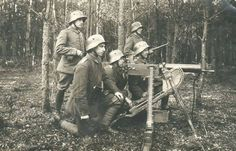 "Imperial german soldiers with a MG 08, the ""Spandau MG"" ."