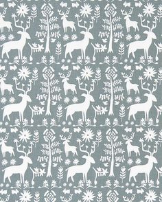 Designer Gray Woodland Fabric By The Yard Cotton Drapery Curtain Fabric Or  Upholstery Fabric Gray Home Decor Fabric Nordic Woodland C729