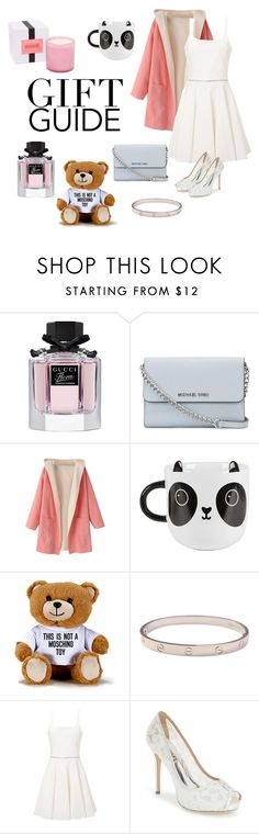 """""""Untitled #29"""" by iris-santos-1 ❤ liked on Polyvore featuring Gucci, MICHAEL Michael Kors, Sass & Belle, Moschino, Cartier, Emilio De La Morena, Badgley Mischka and LAFCO"""
