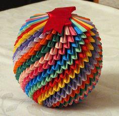 3D Origami - Temari-ball by Azsika, via Flickr