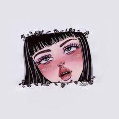 Muse Art, Iphone Wallpaper Tumblr Aesthetic, Black Girl Art, Cool Art Drawings, Portrait Art, Doodle Art, Cartoon Art, Aesthetic Anime, Foto E Video