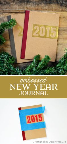 DIY Embossed Gold Journals tutorial