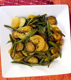My Vegan Cookbook -Summer Squash Sizzle; used garlic salt, pepper, and did not use almond flour.  was very good!