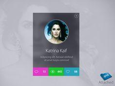 I am working on celebrity profile widget, hope you like it