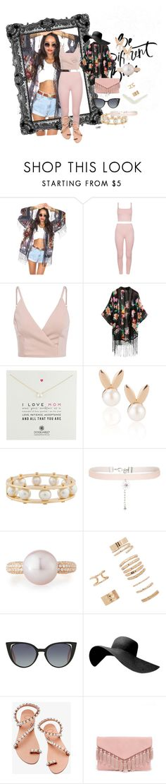 """Untitled #6"" by sheika214 ❤ liked on Polyvore featuring Dogeared, Aamaya by Priyanka, Lele Sadoughi, New Look, Belpearl, Forever 21, Fendi, Elina Linardaki and LULUS"