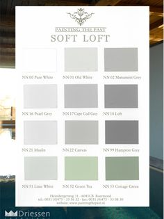 De Soft Loft kleuren van Painting the Past Interior Paint Colors, Paint Colors For Home, Color Inspiration, Interior Inspiration, Interior Design Living Room, Interior Decorating, Monochromatic Room, Color Of Life, Cottage Homes