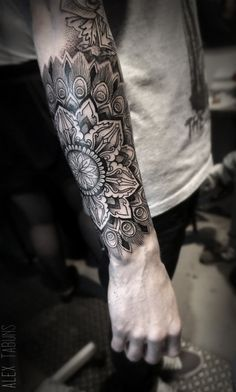 mandala, moth, skull, eye full sleeve tattoo - Google Search                                                                                                                                                                                 Más
