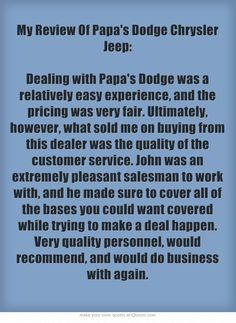 1000 images about customer testimonials on pinterest dodge chrysler car d. Cars Review. Best American Auto & Cars Review