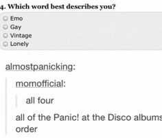 those are the four words I would use to describe brendon urie