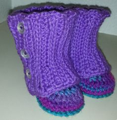 Crochet Baby Wrap boots Booties by debsscreations on Etsy