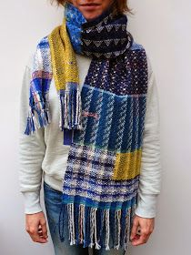 Ilse Acke handwoven scarf - love how chaotic it is.