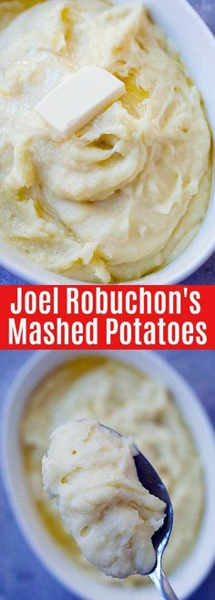 Joel Robuchon's Mashed Potatoes – the best mashed potatoes recipe in the whole w… – Rezepte Perfect Mashed Potatoes, Mashed Potato Recipes, Cheesy Potatoes, Baked Potatoes, Joel Robuchon, Strawberry Cheesecake Bites, Joe Recipe, Cooking Challenge, Gourmet