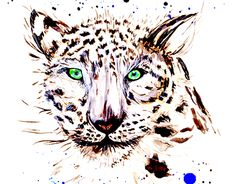 """Check out new work on my @Behance portfolio: """"Snow Leopard"""" http://be.net/gallery/61381039/Snow-Leopard"""