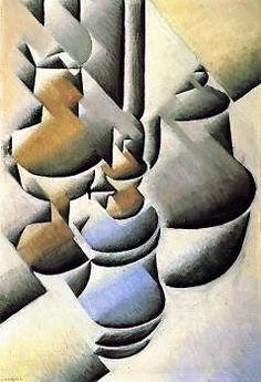 Juan Gris, Still Life with Oil Lamp - 1911-12 on ArtStack #juan-gris #art