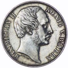 Bayern, Maximilian II. 1848 - 1864 Vereinstaler 1863 Silber, München