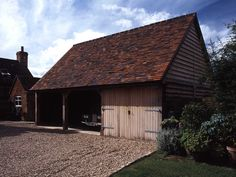 Outbuildings - Border Oak - oak framed houses, oak framed garages and structures. Border Oak, Oak Frame House, Lodges, Country Living, Shed, House Styles, Annex, Tree Houses, Log Cabins