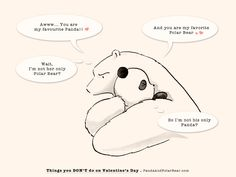 » Things You DON'T do on Valentine's Day Panda and Polar Bear