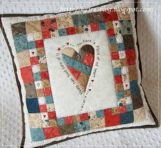 Piece of My Heart Quilted Pillow