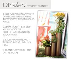 DIY PVC Pipe Planter -- would be great for an herb garden