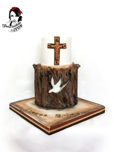 Confirmation Wood cake by Ivon