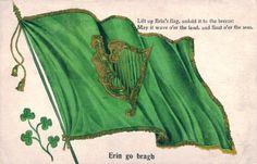 Patrick's Day Postcard, Visual Studies Collection, Library of Virginia. Erin Go Bragh, St Patrick, Boho Shorts, Postcards, Virginia, Irish, Scrapbooking, Collection, Fashion