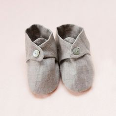 baby shoes in linen