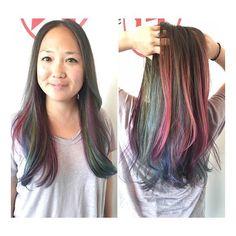 Gem.tones like gem.stones #avedacolor by Jenn Sarchet @jennifer.sarchet #colormelting #establishmentla #vscocam #hairbyjsarchet #modernsalon
