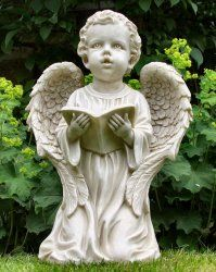 Kneeling Boy Angel Statue
