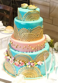 teal and rose gold wedding - Google Search