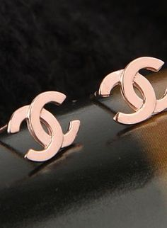 New rose gold filled double C earrings, Jewelry, Fashion earrings, Casual