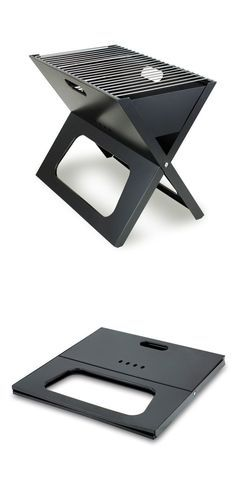 Portable grill that folds flat! Great father's day gift for dads who love to BBQ in new locales!