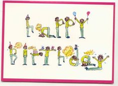 Happy Birthday You Wild Thing You Yoga Birthday Card Yoga