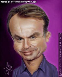 Sam Neill Caricature by Dante
