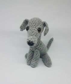Handmade Crochet Whippet Plush available in custom colours