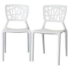Found it at www.dcgstores.com - ♥ ♥ Oketo Stackable White Plastic Modern Dining Chair ♥ ♥