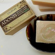 """""""ADONIS"""" Organic Laurel & Olive Oil Shaving & Body Soap for Men by COSMETIQUES LAUDUN™ on Opensky"""