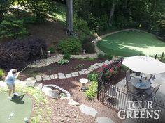 Tour Greens   Backyard Putting Green Photos