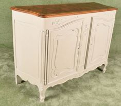 French Carved Louis XV Style Small Sideboard