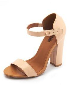 thick heel single sole pump