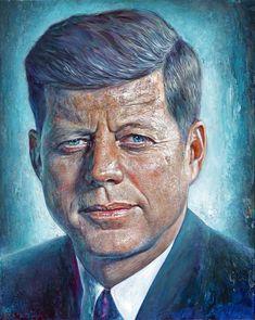(John F. Classic Cartoon Characters, Classic Cartoons, Abstract Portrait Painting, Portrait Paintings, Acrylic Paintings, Art Paintings, Abstract Art, Jfk Portrait, Presidential Portraits