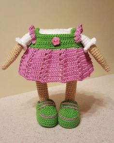 Cute owl in dress amigurumi pattern - dress