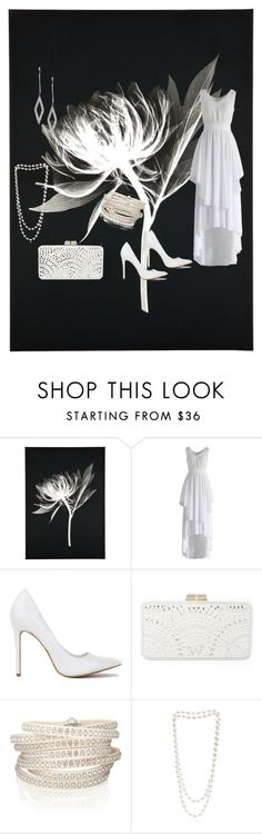 """""""White On Black"""" by jeanstapley ❤ liked on Polyvore featuring Chicwish, BCBGMAXAZRIA, Sif Jakobs Jewellery, The Pearl Quarter and London Road"""