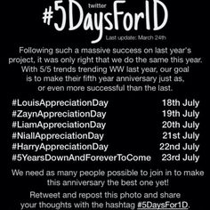 #5DaysFor1D !!! Lets get this spreading around!!