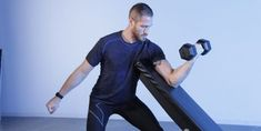 Blow Up Your Biceps With the Preacher Curl — Men's Health Men's Health Fitness, You Fitness, Physical Fitness, Dumbbell Workout, Kettlebell, Countdown Workout, Conditioning Training, Bicep Muscle, Preacher Curls