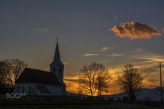 Church in sunset - null