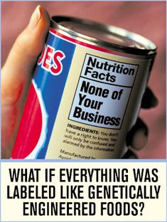 Non-GMO Shopping Guide and Information Why do they want to hide what's in your food????